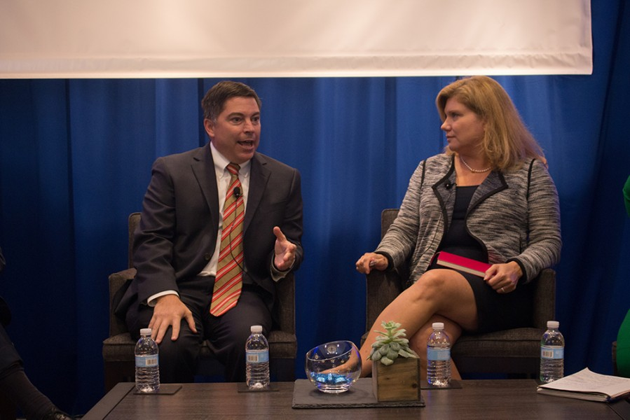 FCC Commissioner Michael O'Rielly and NTCA's Jill Canfield